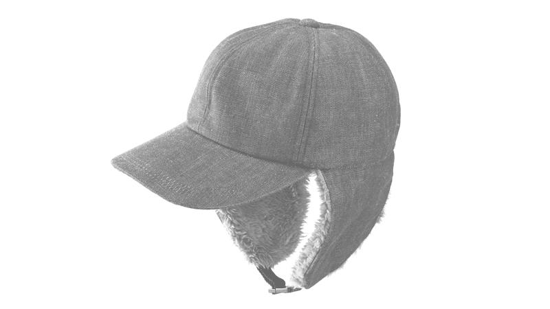 井上帽子 in-od-h009 岡山デニム ボア付キャップサイズ