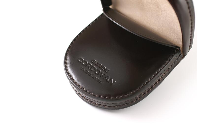 Milagro ミラグロ ke-c002 コードバン 馬蹄コインケース コインケースの内側には「GENUINE CORDOVAN」のロゴと 「MADE IN JAPAN」を刻印。正真正銘のコードバンの革を使用した日本製です。