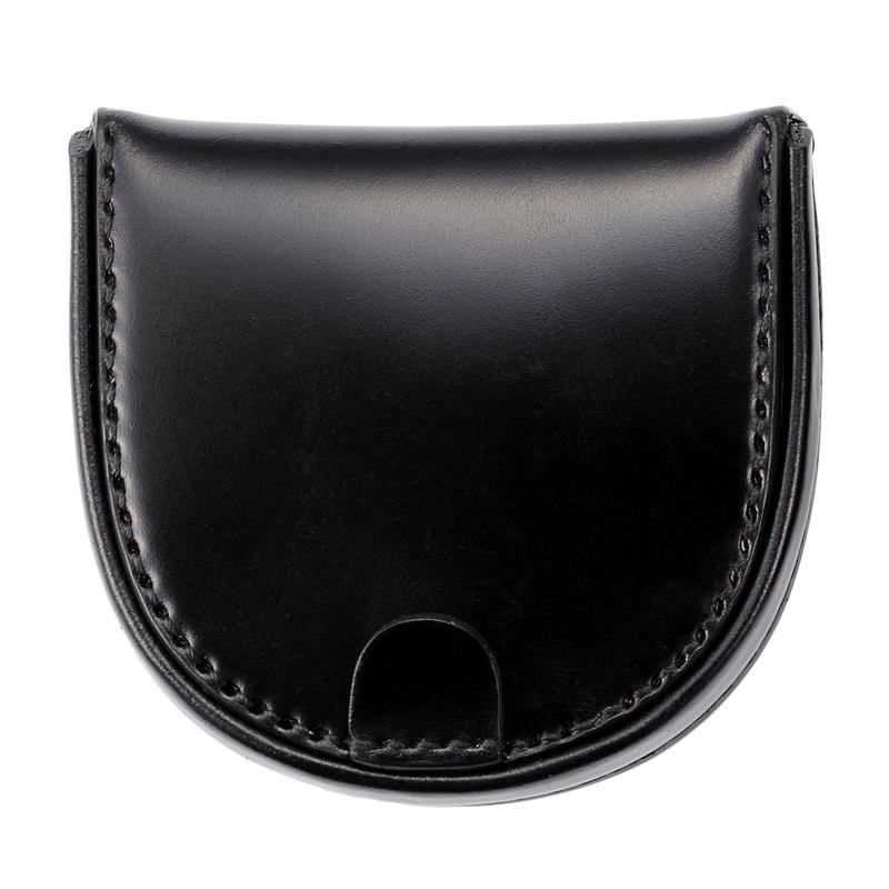 コードバン馬蹄コインケースMilagro(ミラグロ)革本革レザー馬革メンズブランド日本製国産[ボスポークオリジナル]馬蹄型小銭入れke-c002 ブラック