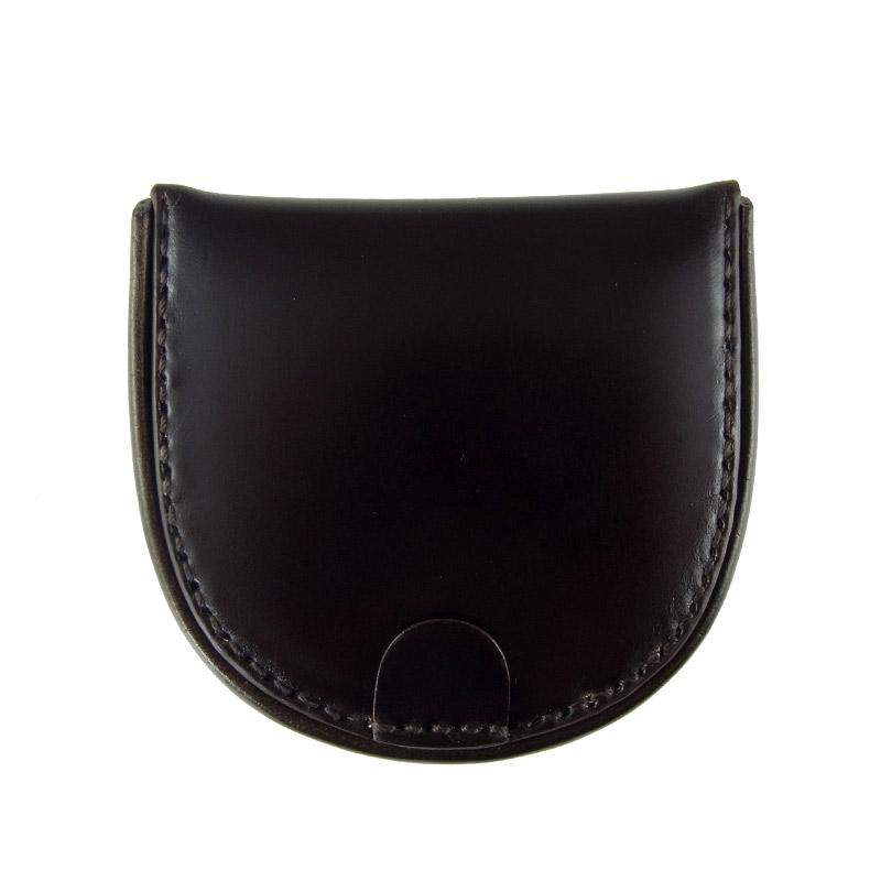 コードバン馬蹄コインケースMilagro(ミラグロ)革本革レザー馬革メンズブランド日本製国産[ボスポークオリジナル]馬蹄型小銭入れke-c002 チョコ