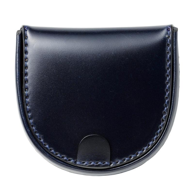 コードバン馬蹄コインケースMilagro(ミラグロ)革本革レザー馬革メンズブランド日本製国産[ボスポークオリジナル]馬蹄型小銭入れke-c002 ネイビー