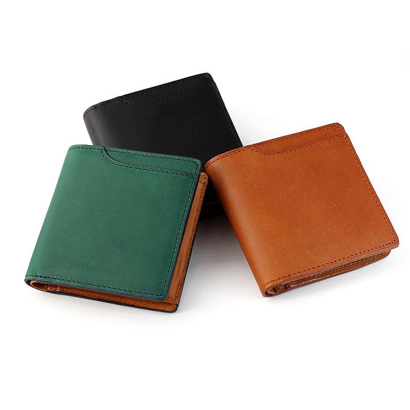 Milagro ミラグロ イタリアンレザー ミネルバリスシオ ミニマム二つ折り財布 ke-w007 イタリア製高級皮革「ミネルバリスシオ」を使用したコンパクトな財布。