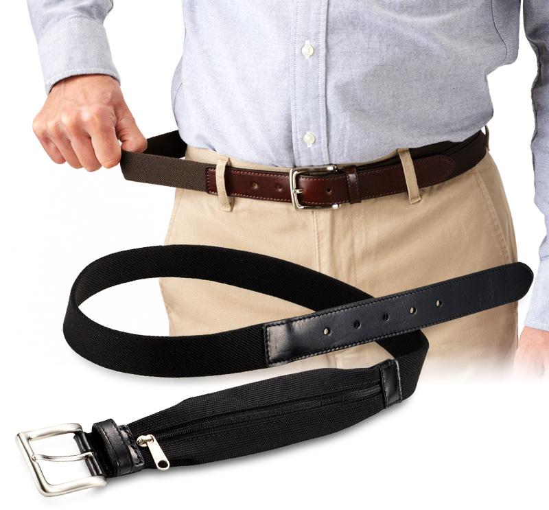 Milagro ミラグロ 収納ポケット付きストレッチベルト mlb-170805  伸縮素材で腹部にフィット 本製品は伸び縮みするゴムベルトを使用しています。締め付け感がなく、快適に過ごせます。ベルト自体はバックル付きで、剣先にもイタリアンレザーを使用。着用時は普通のベルトと変わりません。着用するとポケットが革製の剣先の裏にくるように設計。ポケットの帯の色に合わせているので目立ちません。車や電車の使用で座ったり立ったりすることが多い方、各種宴会などでおなかがふくれる方などにお勧めのベルトです。