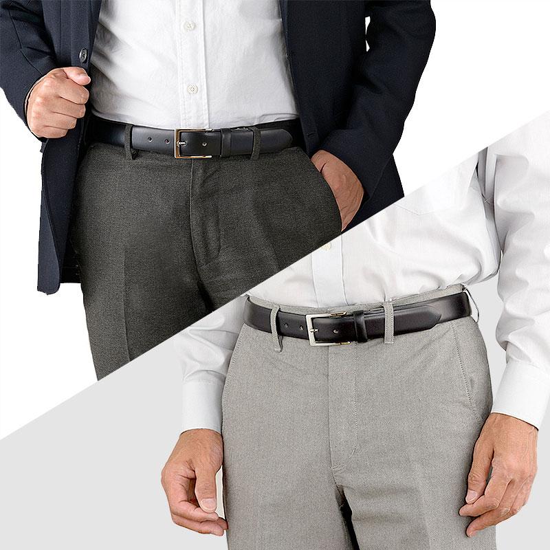 """長沢ベルト アノネイ社製 ボックスカーフ ベルト 人気の理由は、確かな素材と確かな技術 フランス・アノネイ(ANNONAY)社製の""""カーフ""""アノネイ社は、1984年に創業したフランスのタナリー(革のなめし業者)。アノネイ社のボックスカーフ(生後6ヶ月までの子牛の革)は適度な硬さとしなやかさを持ち合わせていることから、名だたる世界の有名ブランドの高級靴にも使用されています。艶やかでキメの細かい質感と重厚感。そんな革を贅沢にベルトに仕上げました。日本ならではのものづくり長沢ベルト工業 しなやかで丈夫なブライドルレザーを日本のベルト工房として名高い""""長沢ベルト工業""""でメンズベルトに仕上げました。1本1本職人の手により丁寧に仕上げられたベルトは、細部まで美しく長く付き合える逸品です。"""