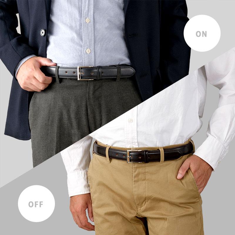 長沢ベルト工業 30mmブライドルレザー(セドウィック)ビジネスベルト nb-017 イメージ写真
