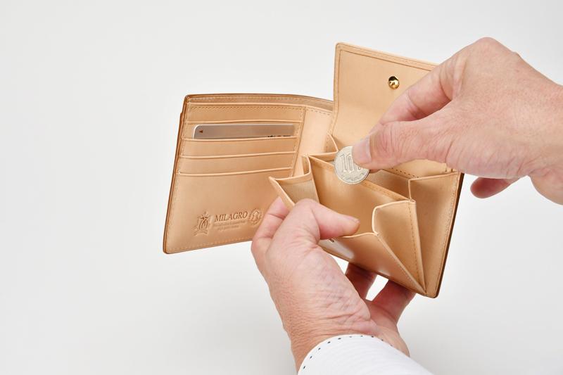 milagro ミラグロ コードバン 二つ折り財布(小銭入れあり) oh-bp003