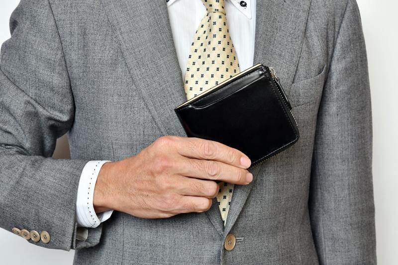 milagro ミラグロ コードバン L字ファスナー二つ折り財布 oh-bp006