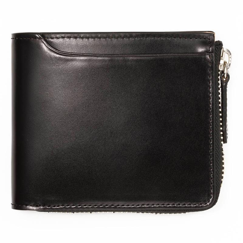 milagro ミラグロ コードバン 二つ折り財布(小銭入れあり) oh-bp003 ブラック