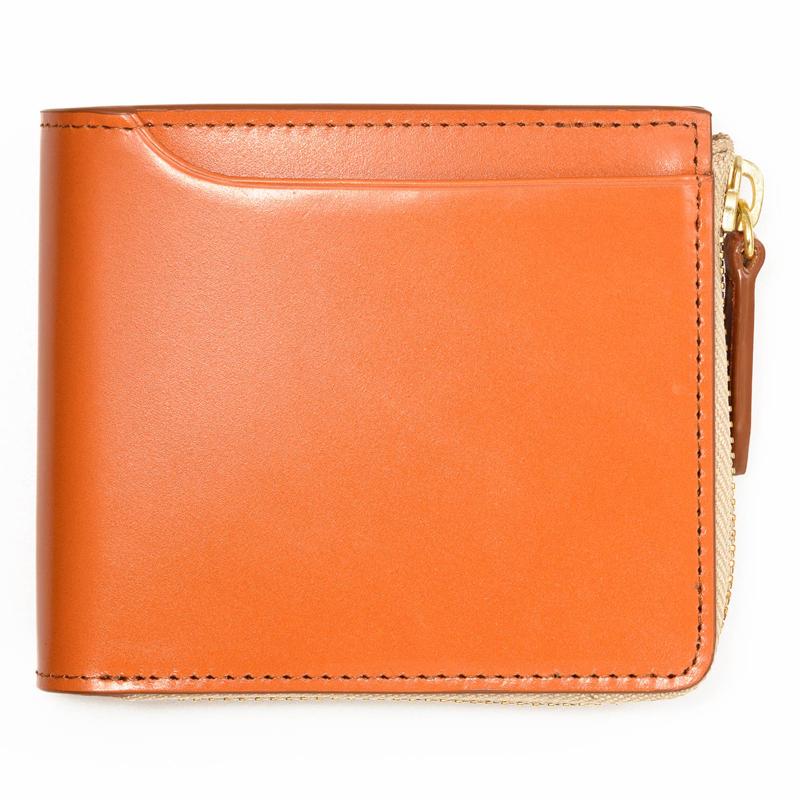milagro ミラグロ コードバン 二つ折り財布(小銭入れあり) oh-bp003 キャメル