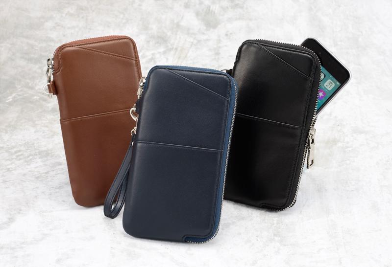 ミラグロ oh-bp054 本革(羊革) マルチウォレット やわらかく、手ざわりのよい本革(羊革)を使用したスマホも入るお財布