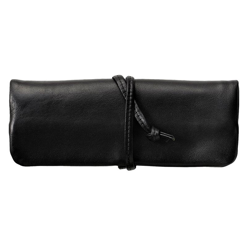 ミラグロ oh-bp055 ヤンピ革(羊革) ロールペンケース   ブラック