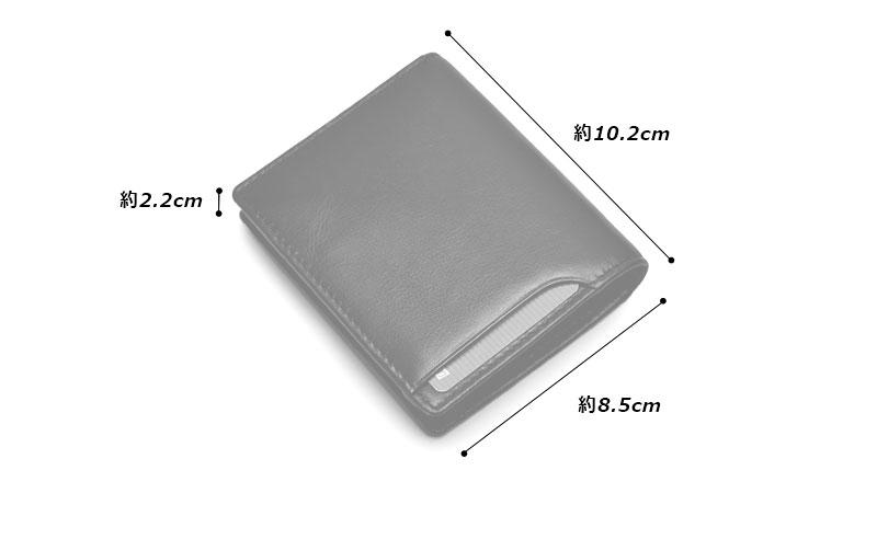 Milagroアニリンカーフスリム二つ折り財布oh-bp301素材外側:牛革(カーフ)、金具 内側:牛革(カーフ)、ポリエステルサイズと重さ(約)縦:10.2cm × 横:8.5cm × 厚さ:2.2cm / 55g仕様外側:オープンポケット×1、カードポケット×1内側:小銭入れ×1、札入れ×1、カードポケット×3、オープンポケット×2カラー6色(ブラック、ネイビー、オリーブ、グレー、キャメル、チョコ)