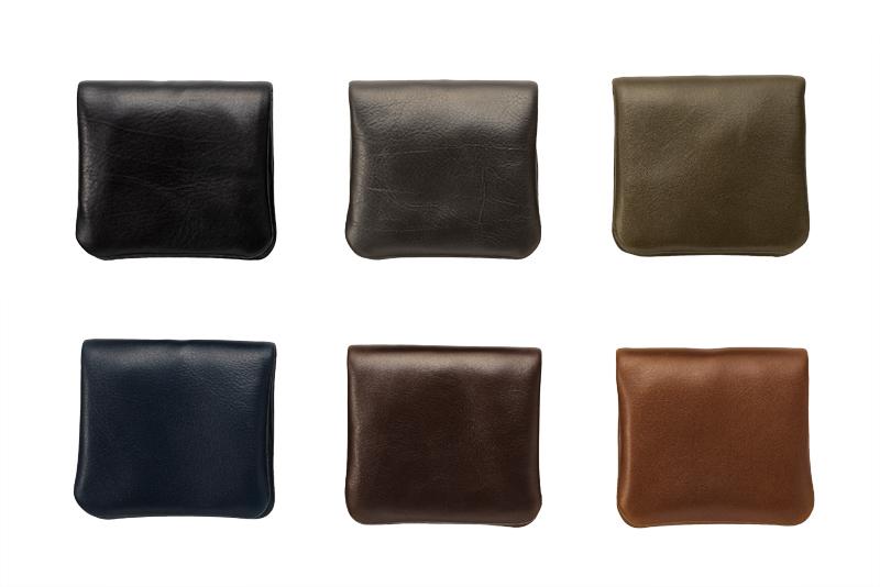 Milagro ミラグロ アニリンカーフ コインケース oh-bp303 貴重な革を透明感のあるカラーに染めました。 選ぶ楽しみ 6色展開 カラ—も魅力的で、落ち着いた色合いの6色を揃えています。定番のブラック、ネイビー、チョコ、キャメルに加え、さりげなく個性を彩るオリーブ、グレーもご用意しました。