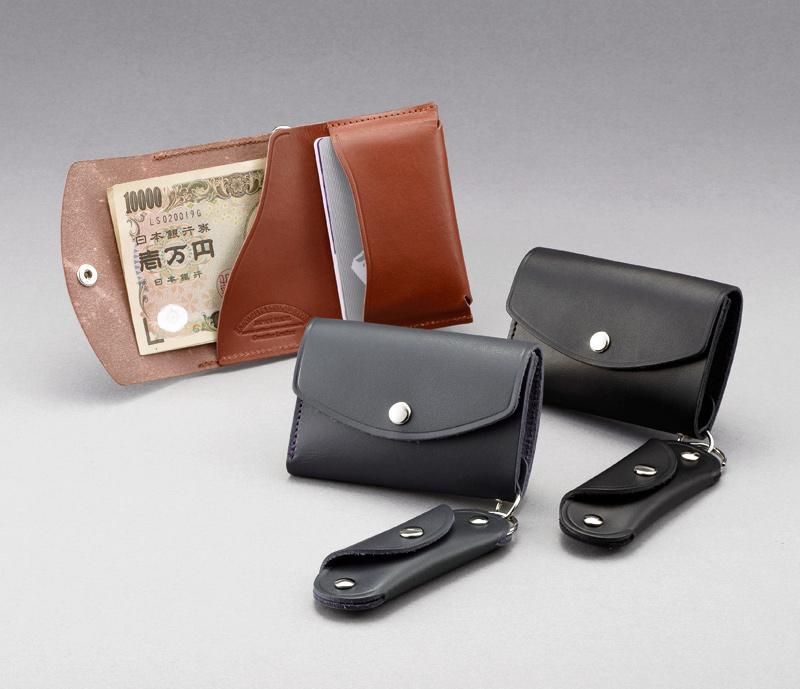 池之端銀革店 ot-c005 姫路産ヌメ革 ミニ財布&キーコインケース やわらかく、手ざわりのよいヤンピー革( 羊革 )を使用した小銭入れ シンプルな財布にキー&コインケースがアタッチされたカジュアル財布