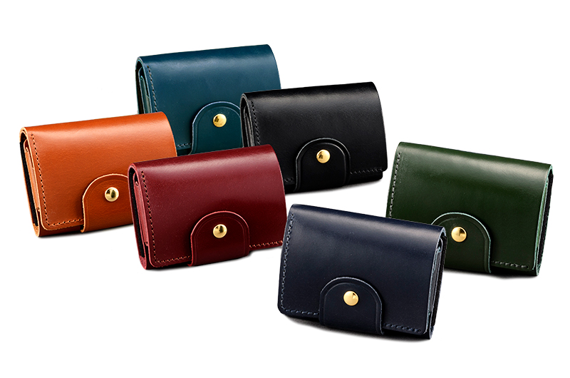 com-ono コムォノ 池之端銀革店 otco-t002 日本製 英国製ブライドルレザー 三つ折りマイクロウォレット 機能性を兼ねたコンパクトな三つ折り財布