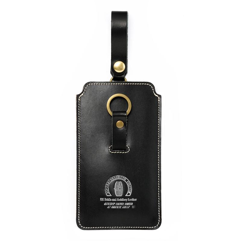 池之端銀革店 UKサドル スマートフォンケース ot-pc001 ブラック