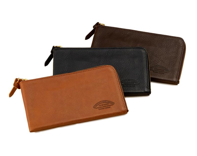 池之端銀革店 ot-wl008 イタリアンシュリンクレザー L字ファスナー長財布   ちょっとした外出にも気軽に使えるアイデア満載の長財布。