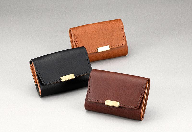 池之端銀革店 ot-ws001 日本製 デザイン性と機能性を兼ねたミニ財布<