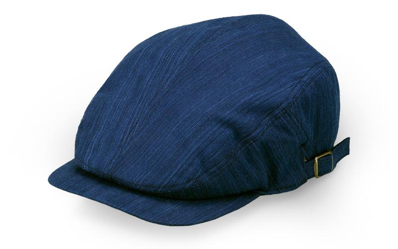 ORIHARA STYLE 小島屋 武州正藍染 ハンチングキャップ ra-or-h005 ORIHARA STYLE 3つ折マルチキャップ 鮮やかな藍染が映える武州正藍染のハンチングキャップ。