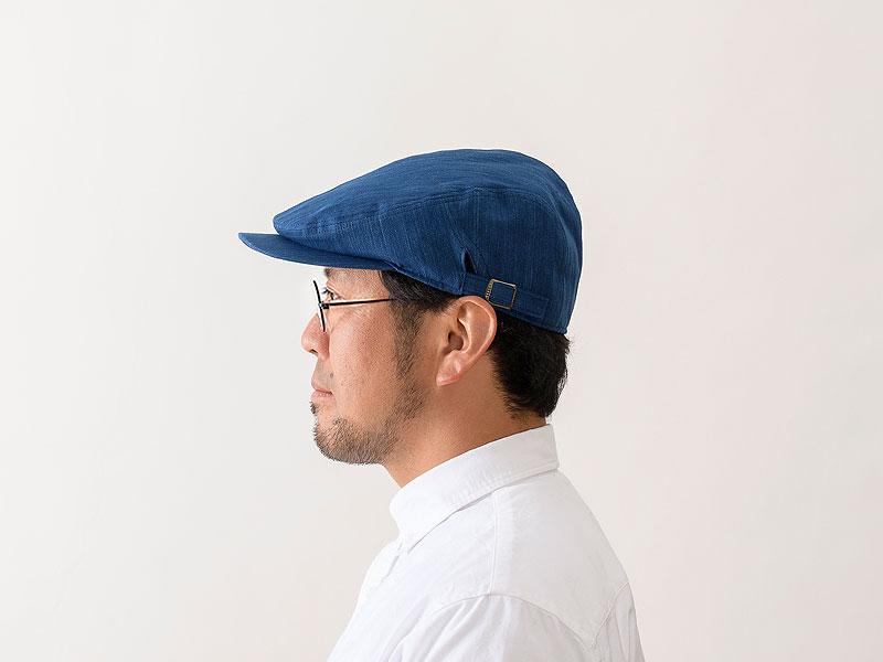 ORIHARA STYLE 小島屋 武州正藍染 ハンチングキャップ ra-or-h005 深めのデザインで、キャップ感覚でかぶれるハンチング 昔ながらの平らなハンチングと違って、キャップ感覚でかぶれる深めで丸みを帯びたデザイン。ツバは短めで、かぶり易く幅広い年代でかぶれるように企画しました。