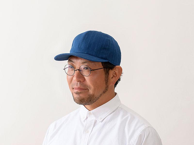 ORIHARA STYLE 小島屋 武州正藍染 キャップ ra-or-h006 明治5年創業の小島屋×ORIHARA STYLEのコラボレーション  小島屋は、明治5年の創業時から140余年にわたって藍染織物を生産し続けている、染織工場発のブランド。その老舗生地屋さんと帽子デザイナーであり、職人でもある折原氏のブランドであるORIHARA STYLEとのコラボレーションアイテム。