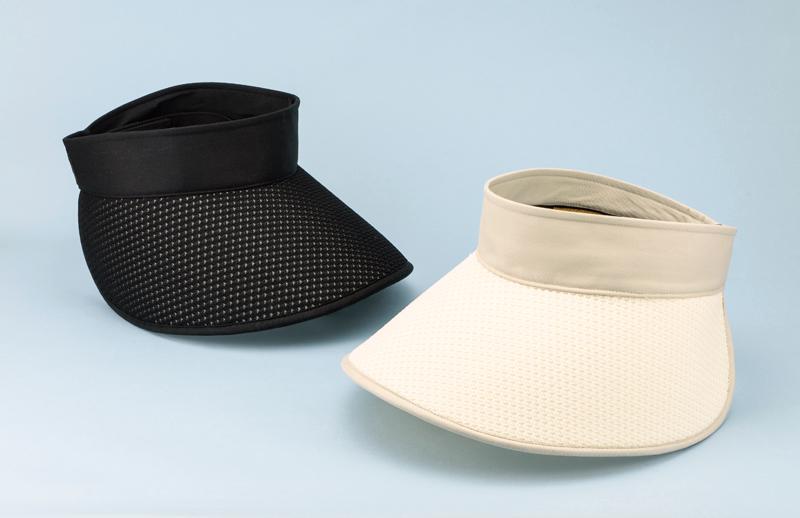 ORIHARA STYLE 折りたたみ式 軽量UVサンバイザー ra-or-h010 軽く、折りたたみ可能なレディース用つば広サンバイザー