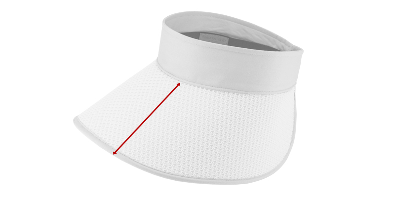 ORIHARA STYLE 折りたたみ式 軽量UVサンバイザー ra-or-h010  サイズ