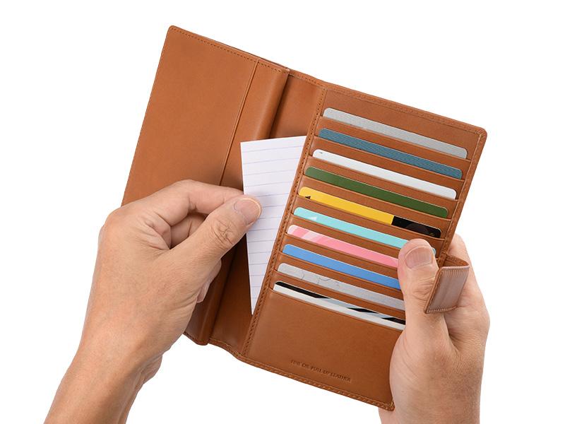 iroiro オイルプルアップレザー 30枚カード収納財布 sl-o-005