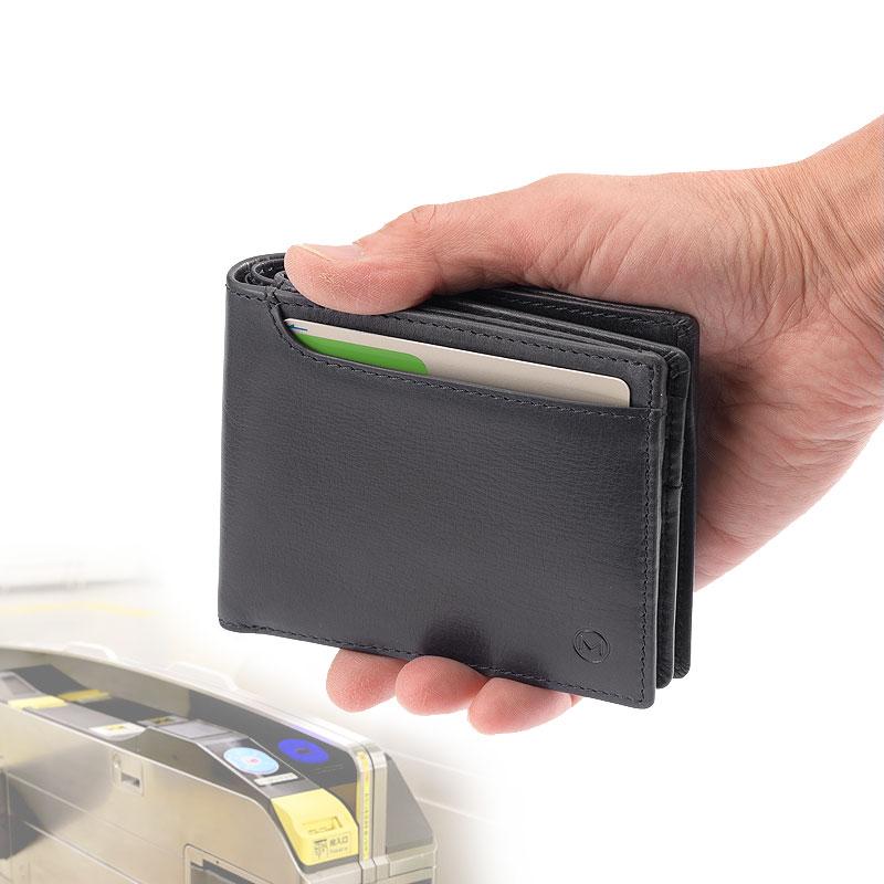 Milagro(ミラグロ) オイルプルアップレザー・ベラ付き2つ折り財布 sl-o-026b