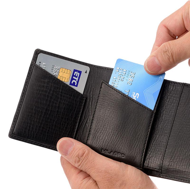 Milagro(ミラグロ) オイルプルアップレザー・3つ折り財布 sl-o-030b