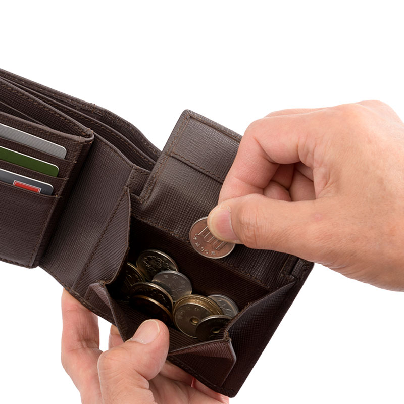 Milagro(ミラグロ) サフィアーノレザー・ベラ付き2つ折り財布 sl-s-026a