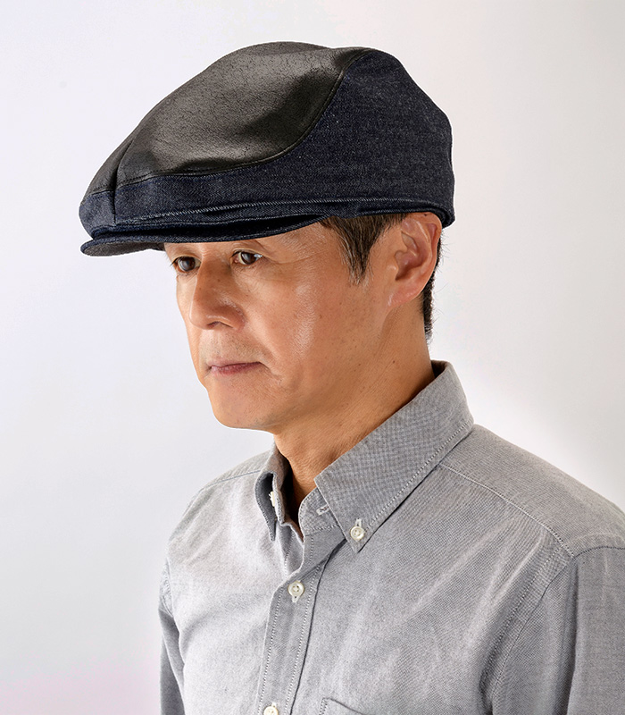 オリハラ スタイル ORIHARA STYLE te-h001-deblbk ブラックは濃いネイビーと絶妙にマッチし、ジャケットスタイルにもよく合います。その日の気分によっていつでも切り替えることができる帽子は一つ持っているだけでコーディネートの幅が広がります。