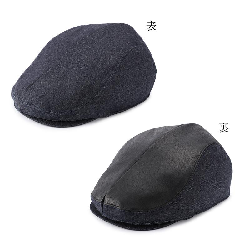 オリハラ スタイル ORIHARA STYLE te-h001-deblbk MEKURU 2WAYデニム ハンチング  濃ブルー×ブラック