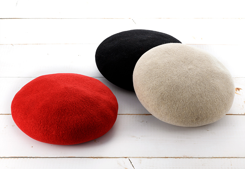 よこい ウールベレー帽 キッズ yo-br003 帽子の老舗が手掛けた子供用のかわいいベレー帽