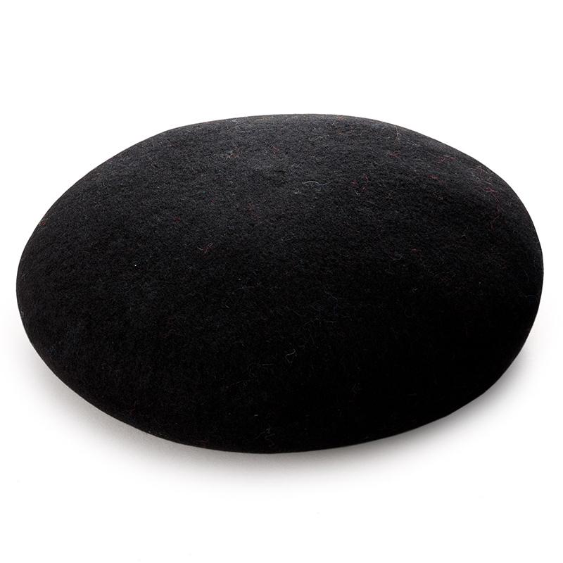 よこい ウールベレー帽 キッズ yo-br003  ブラック