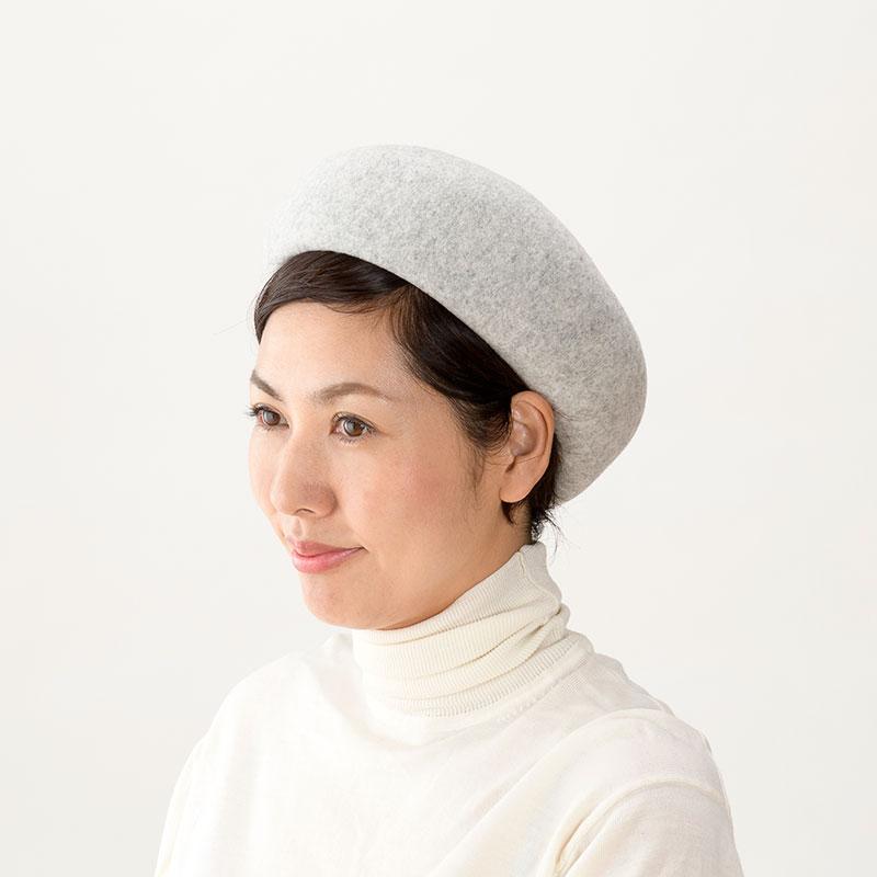 よこい トークバスクベレー帽 yo-br004 丸くて深さのあるシルエットが特徴のベレー帽